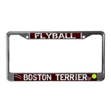 Flyball Boston Terrier License Plate Frame