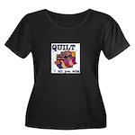 Quilt Till You Wilt Women's Plus Size Scoop Neck D