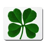 Lucky Four Leaf Clover Irish Mousepad