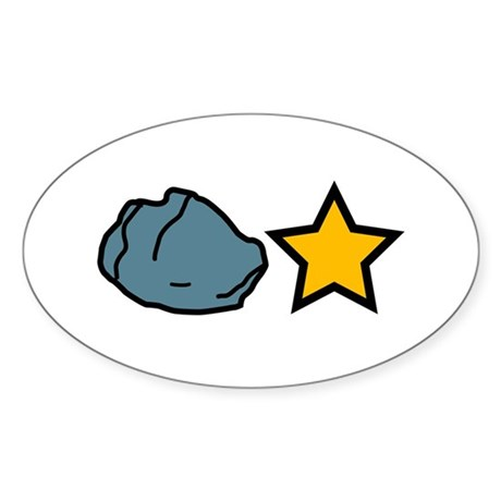 Rock Star Oval Sticker