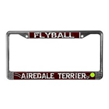 Flyball Airedale Terrier License Plate Frame