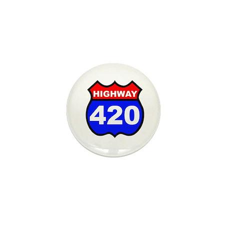 Highway 420 Mini Button