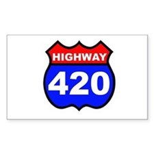 Highway 420 Rectangle Decal