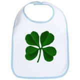 Lucky Four Leaf Clover Irish Bib