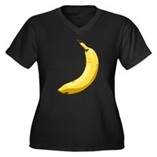 Banana Women's Plus Size V-Neck Dark T-Shirt