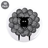 "Yarny Sheep 3.5"" Button (10 pack)"