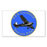 Private Pilot Rectangle Stickers
