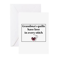 Grandma's Quilts Have Love Greeting Cards (Pk of 2