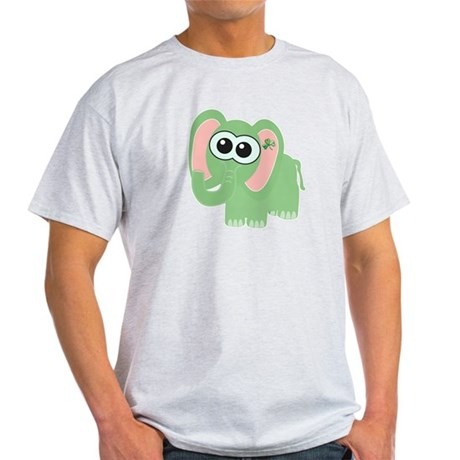 Cute St. Patty's Day Irish Elephant Light T-Shirt