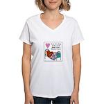 Quilt - Blanket of Love Women's V-Neck T-Shirt