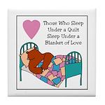 Quilt - Blanket of Love Tile Coaster