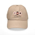 Peace Love Chocolate Lab Cap