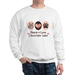 Peace Love Chocolate Lab Sweatshirt