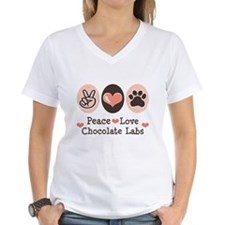 Peace Love Chocolate Lab Shirt