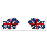 British Bulldog Union Jack Bumper Bumper Sticker