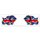 British Bulldog Union Jack Bumper Car Sticker