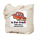 Red Pickup Truck Tote Bag