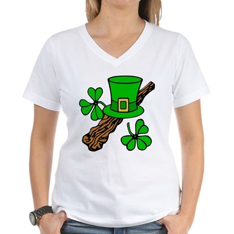 Irish Shillelagh Women's V-Neck T-Shirt