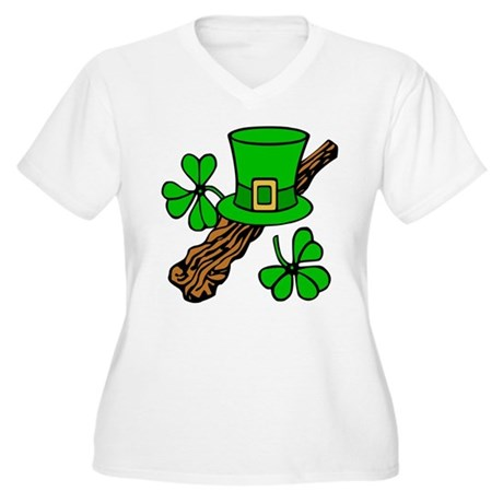 Irish Shillelagh Women's Plus Size V-Neck T-Shirt
