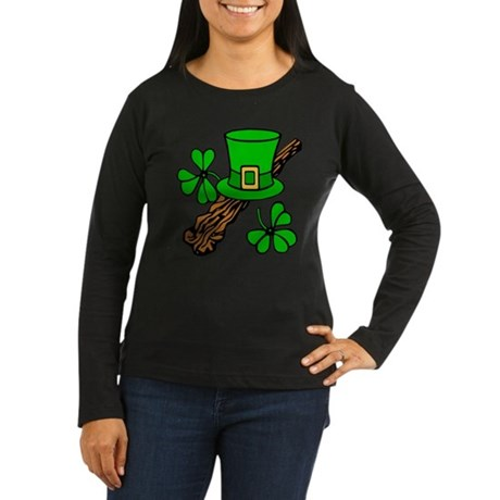 Irish Shillelagh Women's Long Sleeve Dark T-Shirt