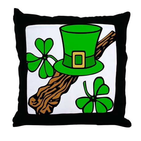Irish Shillelagh Throw Pillow