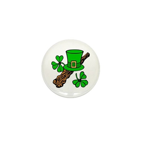 Irish Shillelagh Mini Button