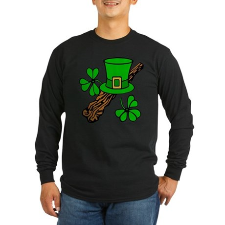 Irish Shillelagh Long Sleeve Dark T-Shirt