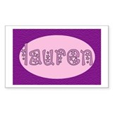 Lauren Rectangle Decal