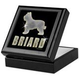 Bling Briard Keepsake Box
