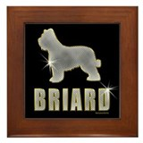 Bling Briard Framed Tile