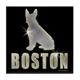 Bling Boston Tile Coaster