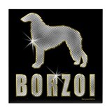 Bling Borzoi Tile Coaster
