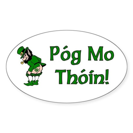 Pog Mo Thoin Oval Sticker