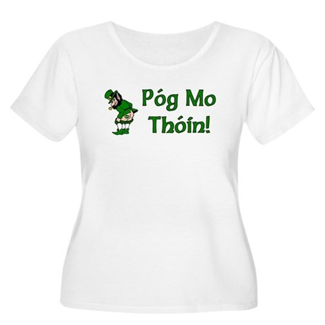 Pog Mo Thoin Women's Plus Size Scoop Neck T-Shirt