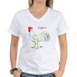 Leghorn White Rooster Women's V-Neck T-Shirt