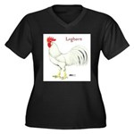 Leghorn White Rooster Women's Plus Size V-Neck Dar