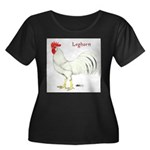 Leghorn White Rooster Women's Plus Size Scoop Neck