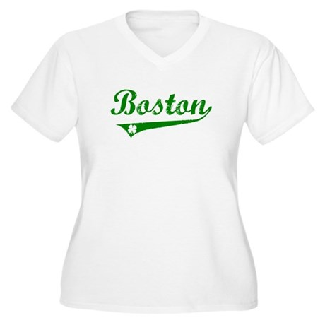 Boston Irish Women's Plus Size V-Neck T-Shirt