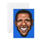 Funny Obama caricature Greeting Cards (Pk of 10)