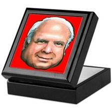 Political caricatures Keepsake Box