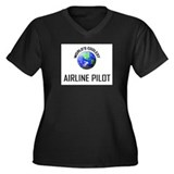 World's Coolest AIRLINE PILOT Women's Plus Size V-