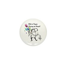 Young at Heart Birthday Mini Button (10 pack)