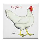 Leghorn White Hen Tile Coaster