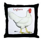 Leghorn White Hen Throw Pillow