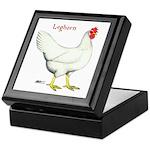 Leghorn White Hen Keepsake Box