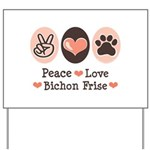 Peace Love Bichon Frise Yard Sign