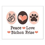 Peace Love Bichon Frise Small Poster