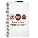 Peace Love Bichon Frise Journal