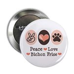 Peace Love Bichon Frise 2.25
