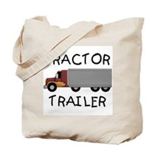Tractor Trailer Tote Bag